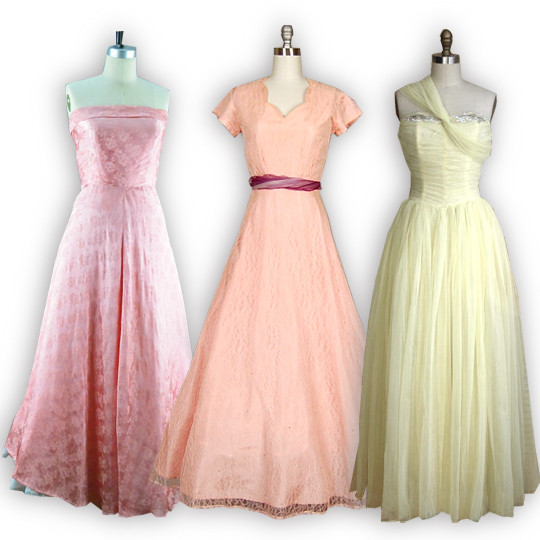 3 maxi dresses from the 1950s