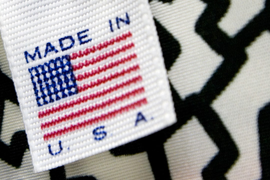 a made in usa label on a vintage clothing item