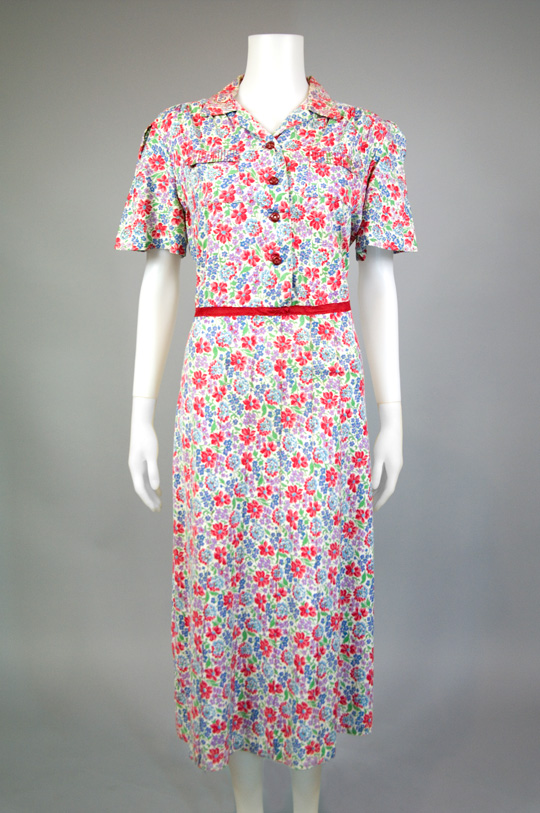 1930s feedsack dress from hinesite vintage