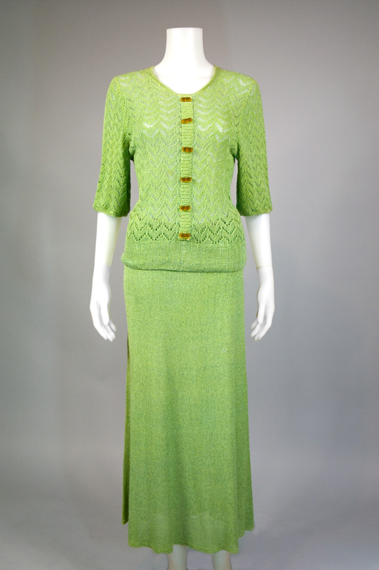 1930s two piece jersey knit suit