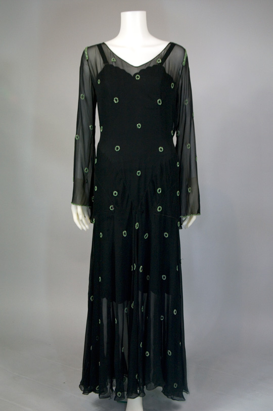 1930s chiffon hollywood glamour dress