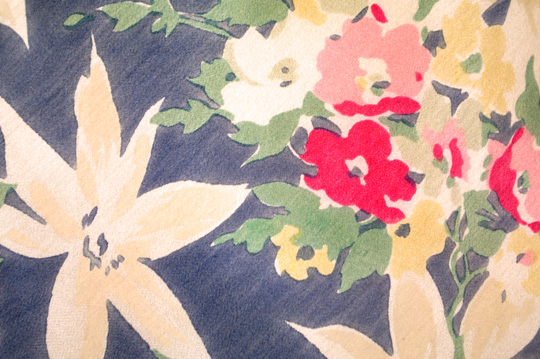 floral print design on a 1930s dress