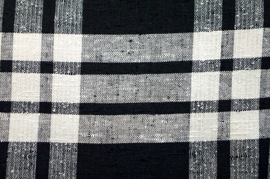 the black and white plaid pattern on a'50s dress