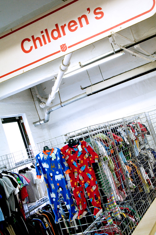 thrift store shopping children's clothing