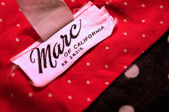 marc of california 1970s vintage clothing label