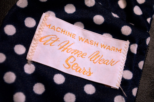 at home wear by sears vintage clothing tag