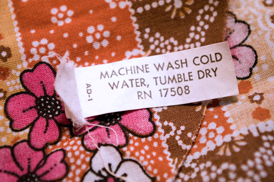 vintage garment label care tag