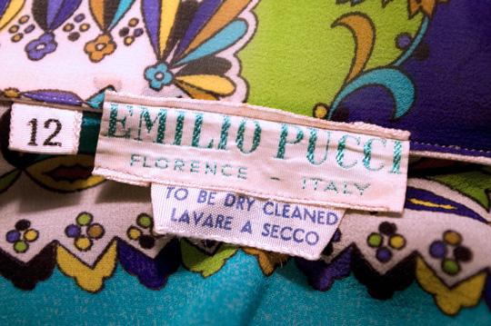 emilio pucci 1960s vintage tag