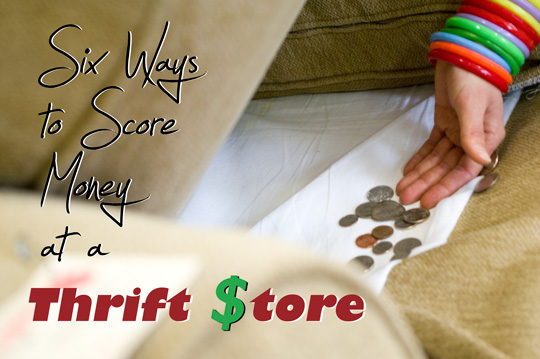 Ways to Find Money at a Thrift Store