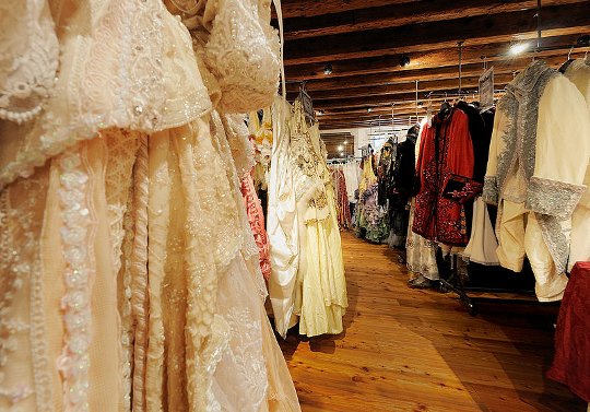 beautiful costumes at a costume shop