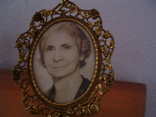 old woman in a picture frame