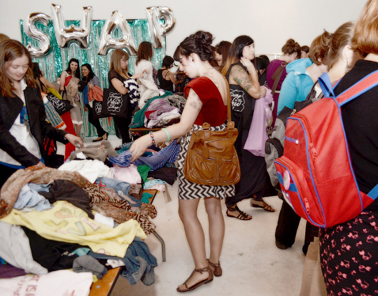 event photo from a swapaholics clothing swap event
