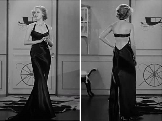jean harlow movie star wearing a 1930s black dress