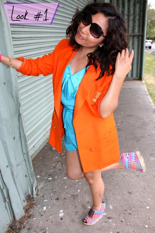 1980s vintage orange blazer