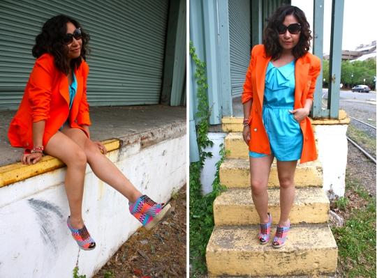 vintage 1980s orange blazer