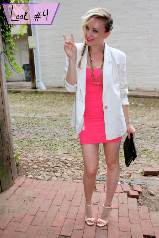 white 1980s vintage blazer