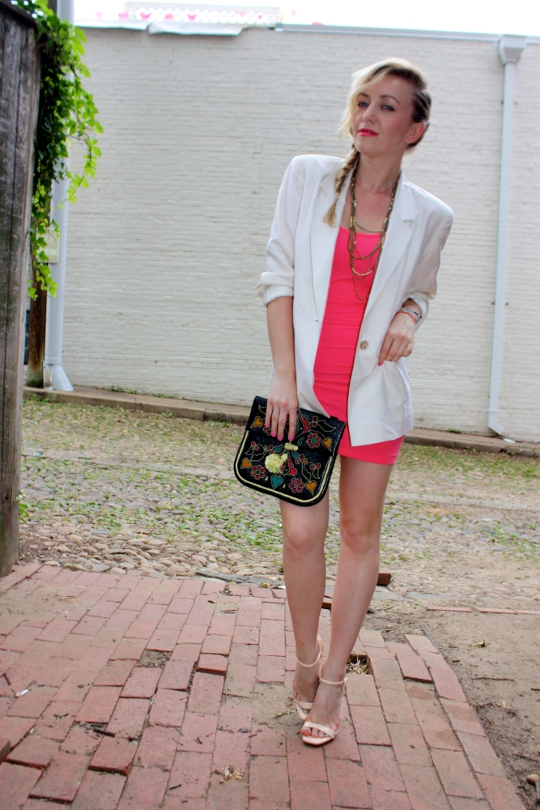 white vintage 1980s blazer