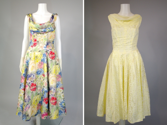 1950s fashion fuil skirted dresses from hinesite vintage