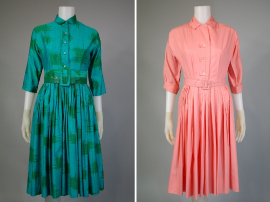 1950s shirtwaist dresses from hinesite vintage