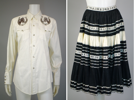 1950s fashion western style clothing