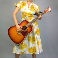 1950s sunflower dress