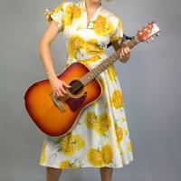 1950s sunflower dress