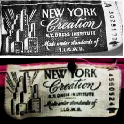NYC Creations Union Labels 1940s