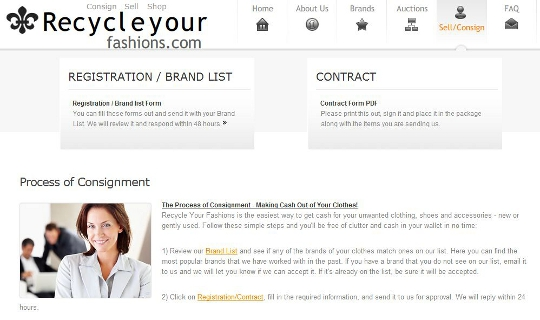 recycle your fashions is an online consignment store