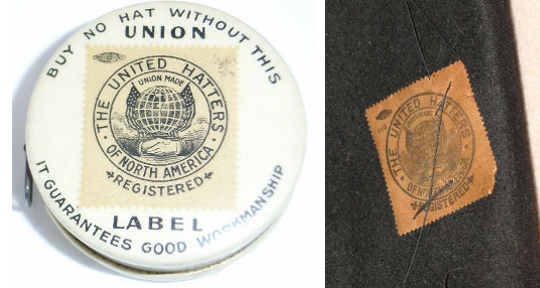 united hatters of north america union label
