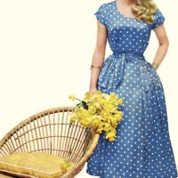 a polka dot dress