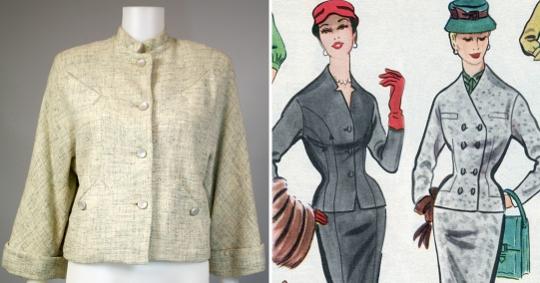 1950s box cut jacket
