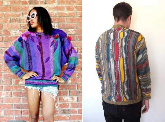 1980s coogi brand oversize sweaters on etsy