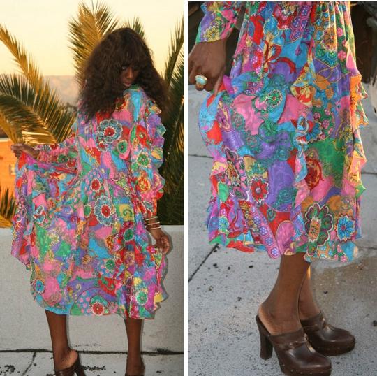 1980s diane freis dress worn by fashion blogger