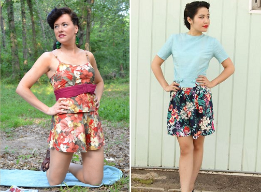 80s hawaiian style clothing worn by fashion bloggers