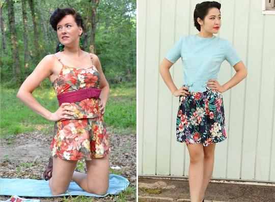 80s hawaiian style clothing worn by fashion bloggers
