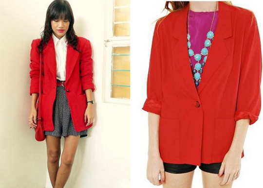 80s red blazers as worn by fashion bloggers