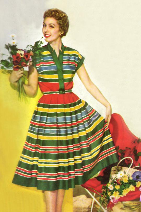 50s shirtwaist dress