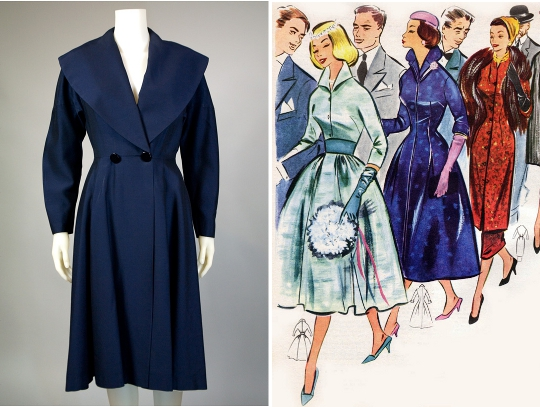 a 1950s dresscoat from hinesite vintage
