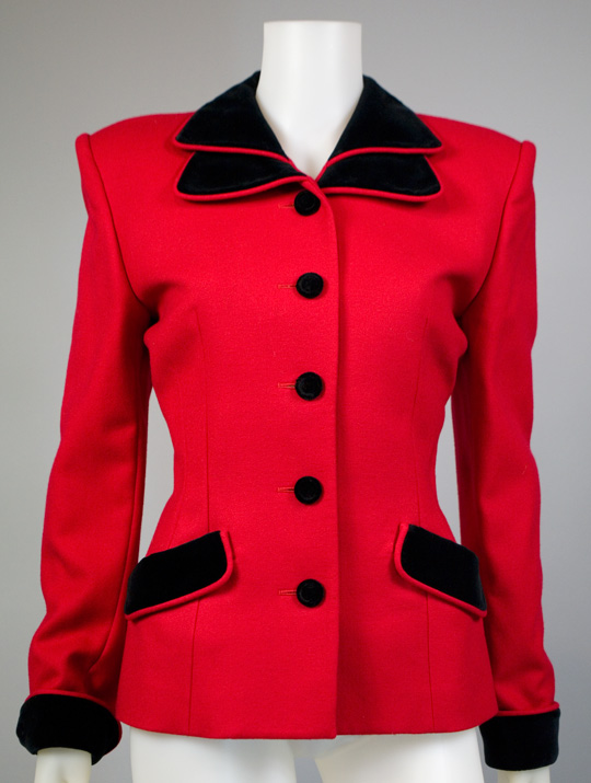80s clothing trend red power blazer