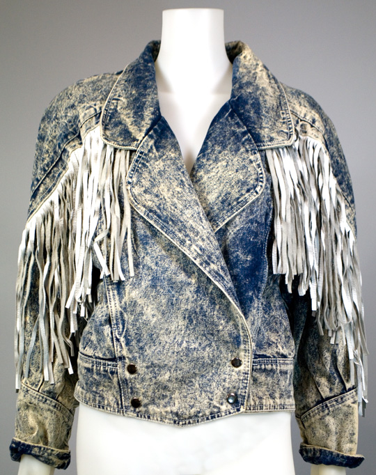 1980s clothing trend stonewash denim jacket