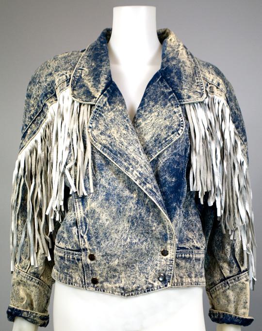 1980s clothing trend stonewash denim jacket