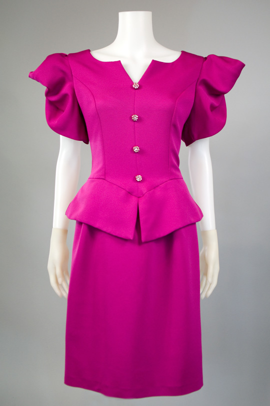'80s clothing trend peplum dress