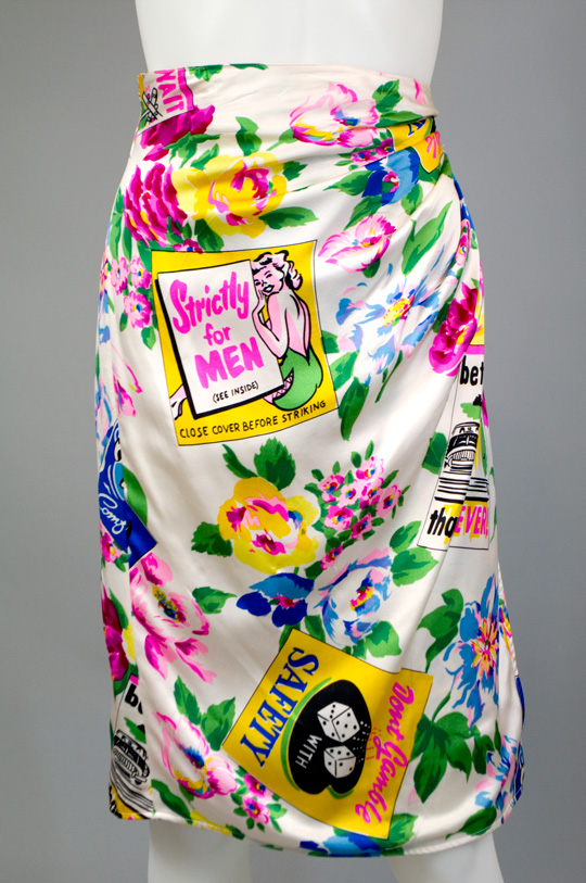 1980s clothing trend hawaiian print skirt