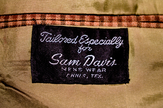 vintage clothing label