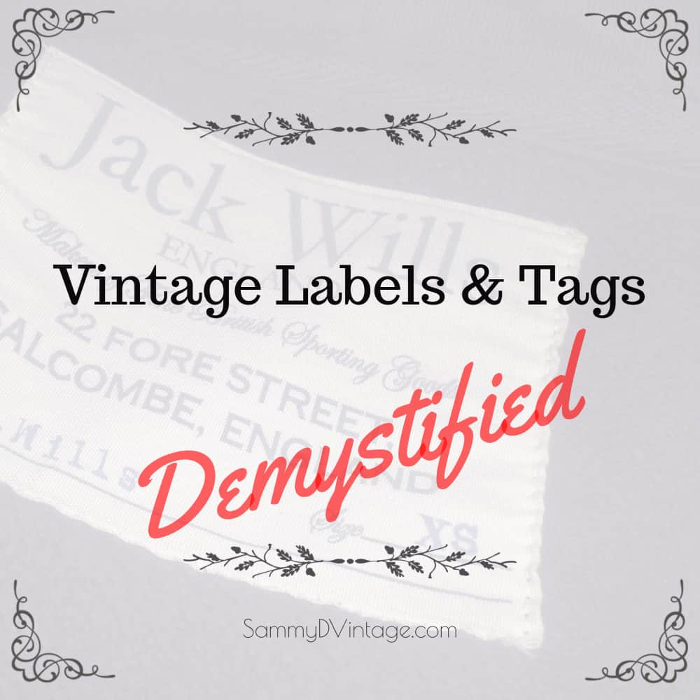 13 tips for identifying vintage clothing labels tags