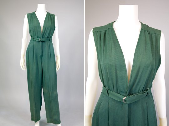 a jumpsuit from the 1940s