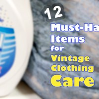 12 must have items for vintage clothing care