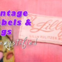 vintage clothing labels and tags