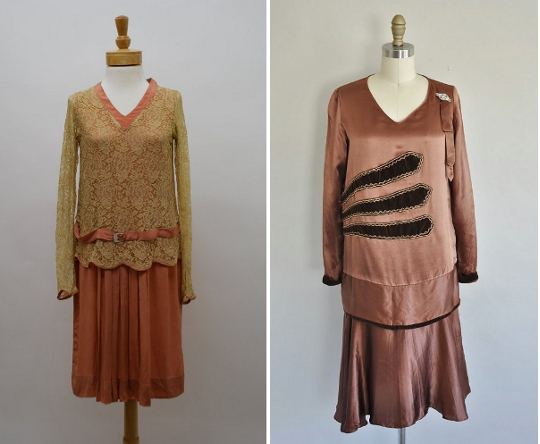 1920s dropwaist dresses from etsy