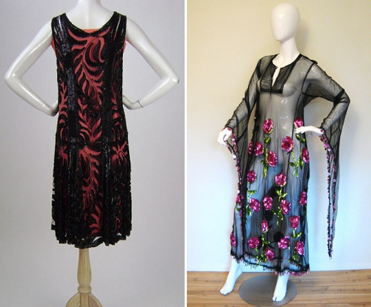 1920s sequin dresses from etsy